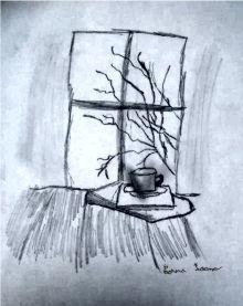 La fereastră